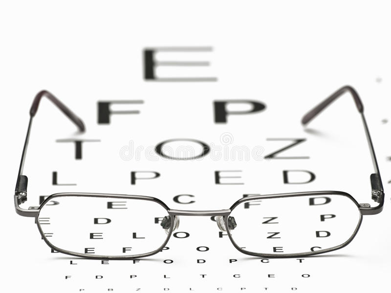 Distance Vision Test stock image. Image of care