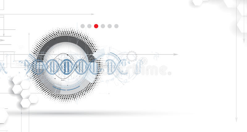 DNA Abstract Icon And Element Collection. Futuristic