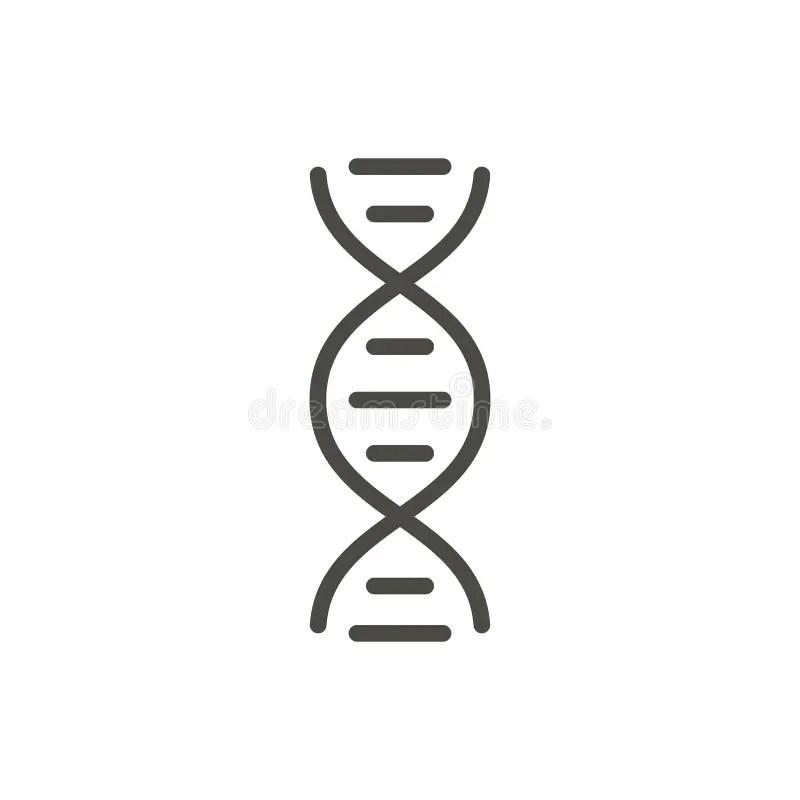 Molecule Icon Vector. Line Atom Symbol. Stock Vector