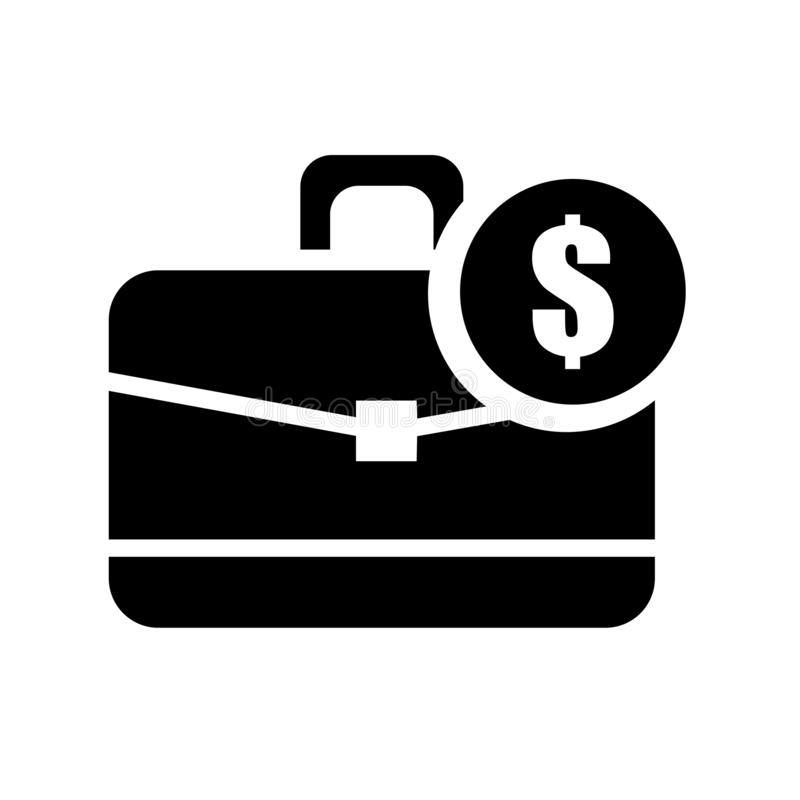 Dollars Suitcase For Business Icon Vector Sign And Symbol Isolated On White Background Dollars Suitcase For Business Logo Concept Stock Illustration Illustration Of Black Monitor 134169376