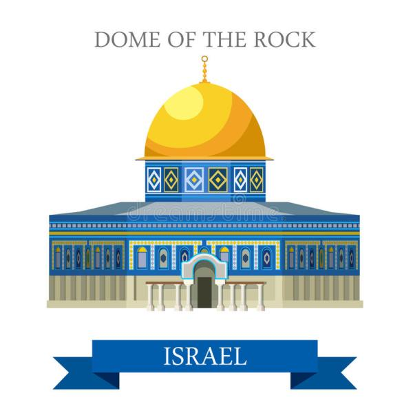 Dome Of Rock In Israel Vector Flat Attraction Stock - Illustration Show