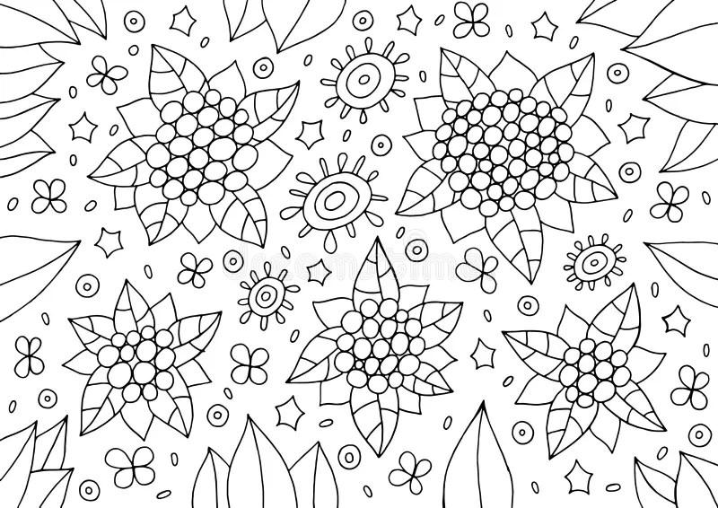 Abstract Cartoonish Christmas Trees 3 Stock Illustration