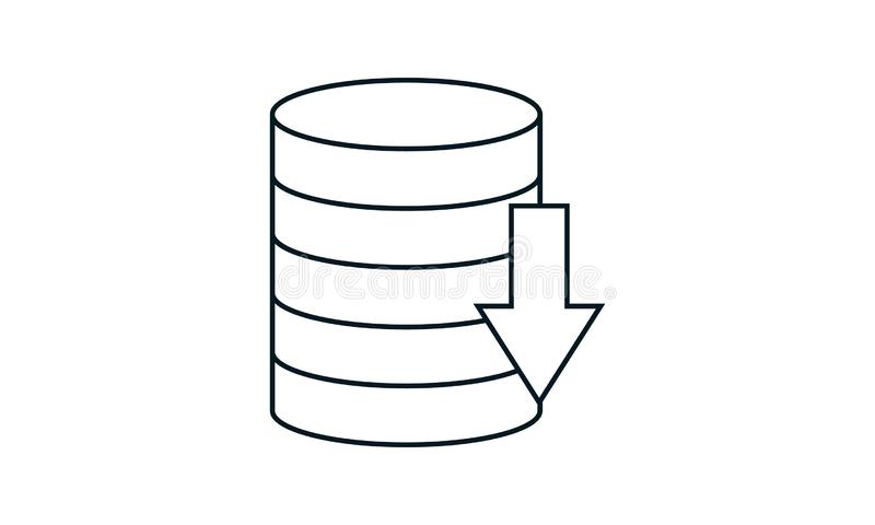 Storage Symbol. Database Icon. Design Vector Set. Stock