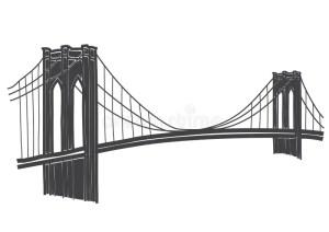 bridge drawing brooklyn york simple