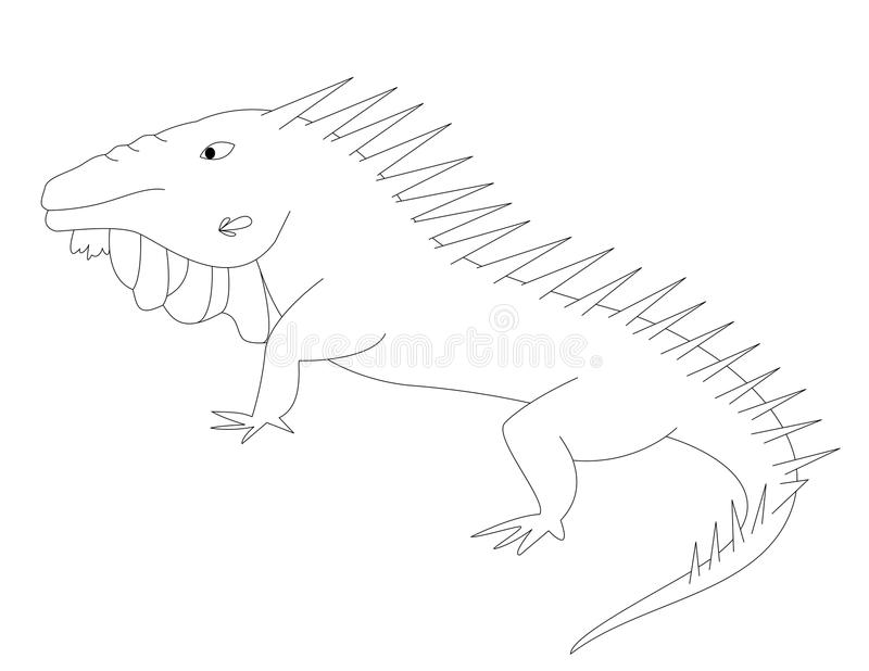 I for iguana stock vector. Illustration of educational