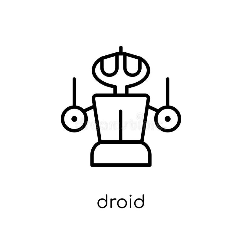Droid Ikona Od Nauki Kolekcji Ilustracja Wektor