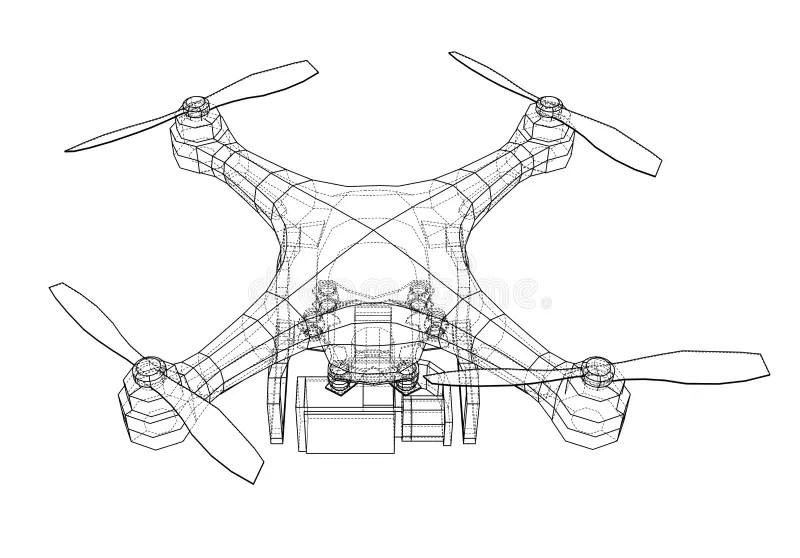 Drone Concept. 3d Illustration Stock Illustration