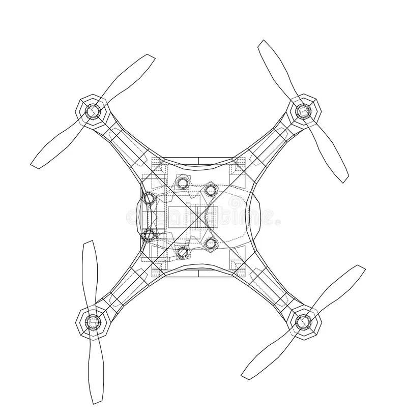 Drone Concept. Vector Rendering Of 3d Stock Vector