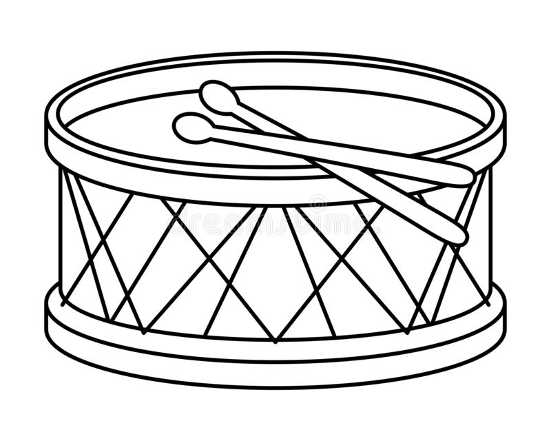 Isolated Drum Instrument Vector Design Stock Vector