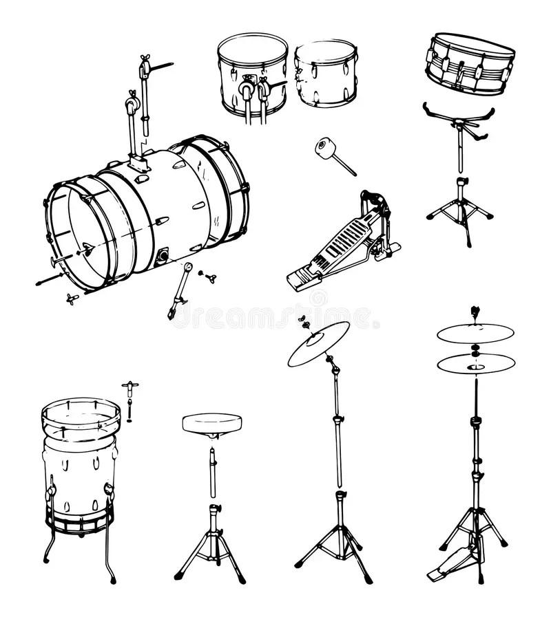 Bass pedal for drum stock illustration. Illustration of