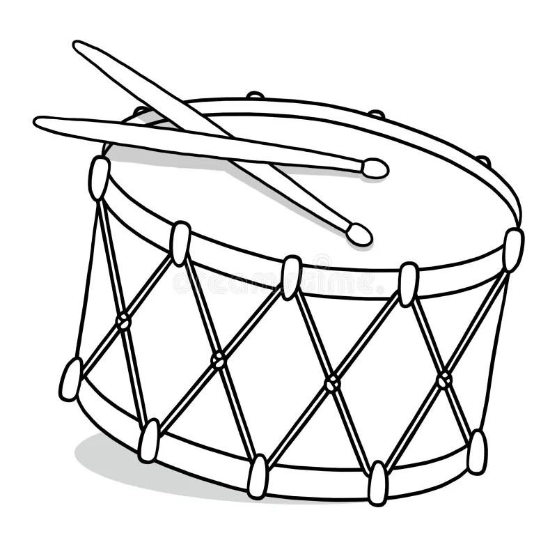 Drum outline illustration stock illustration. Illustration