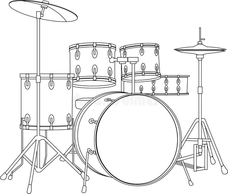 Drum set stock vector. Illustration of instrument, plant