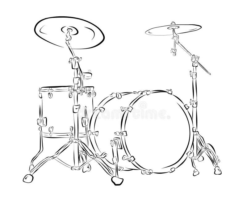 Drums stock illustration. Illustration of artistic