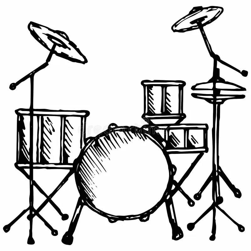 Drums stock vector. Illustration of leisure, illustration
