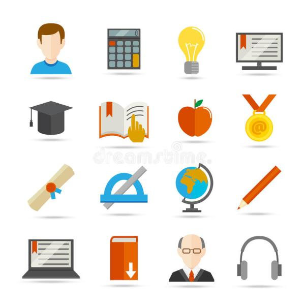 Learning Flat Icon Stock Vector - 40411343