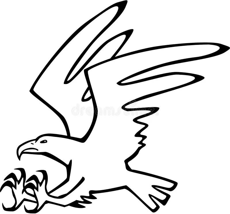 Eagle Strike stock vector. Illustration of predator