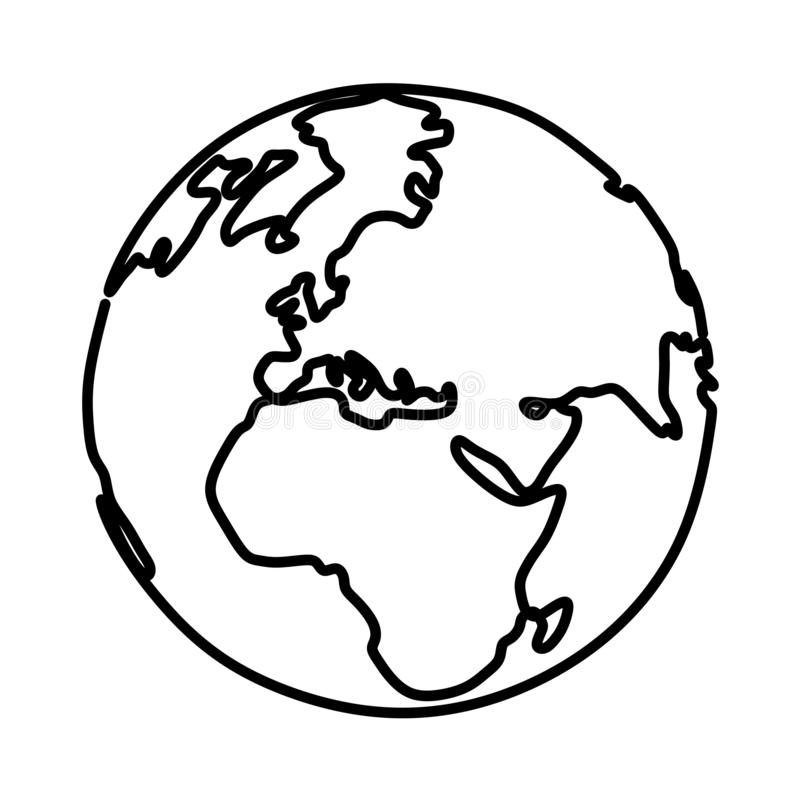 Earth Drawing Stock Illustrations