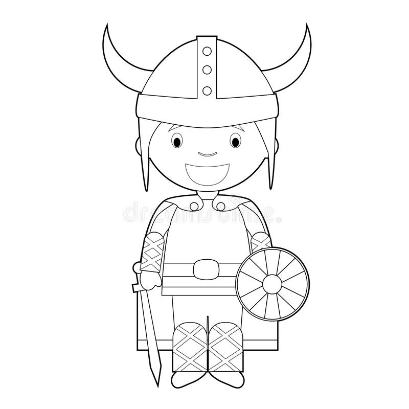 Norwegian Boy Dressed In A Traditional Suit Stock Vector