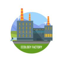 Environmentally Friendly Production Stock Vector