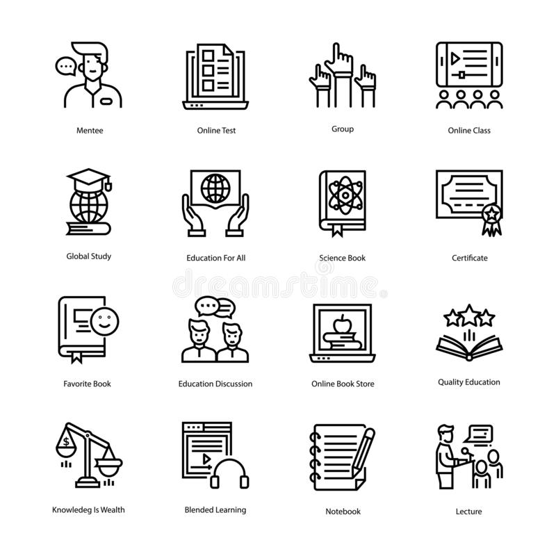 Education Vector Icons 2 stock image. Image of drafting