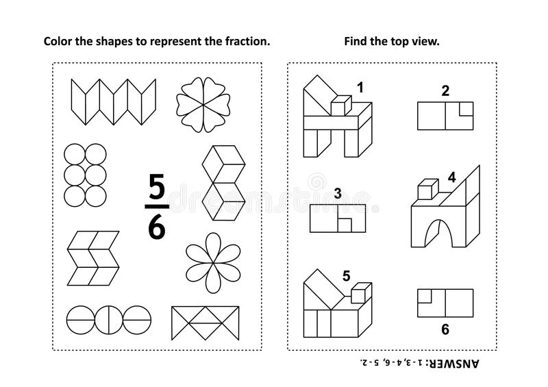 Visual Spatial Relations Activities Sketch Coloring Page