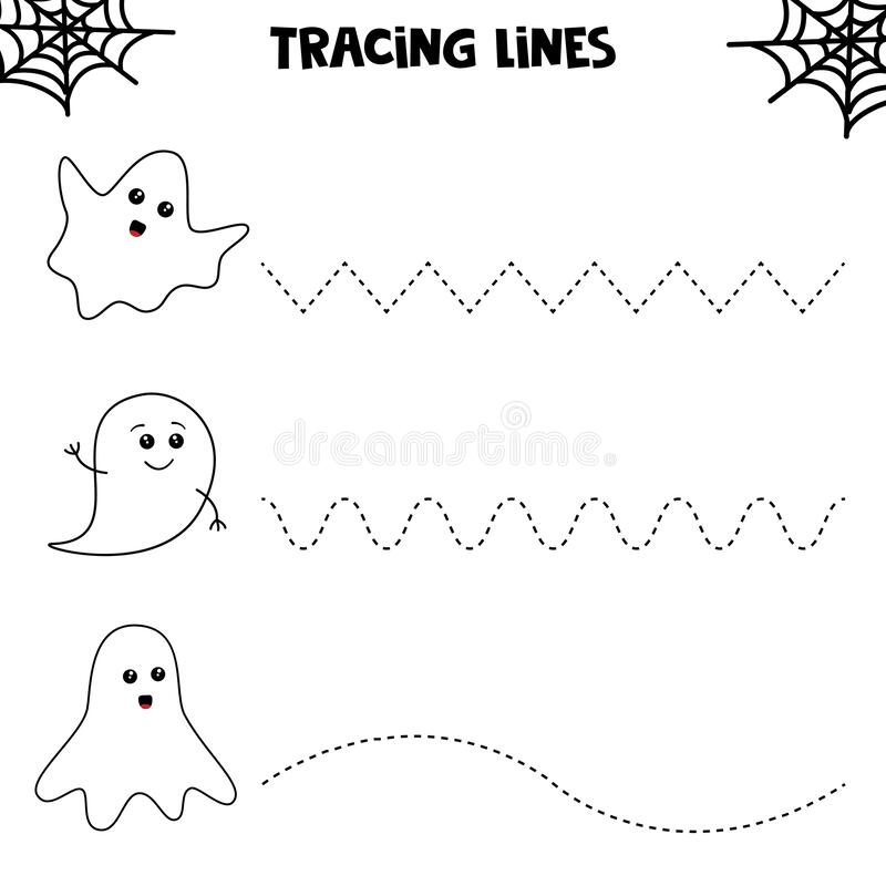 Trace Line With Blue Whale. Handwriting Practice For Kid