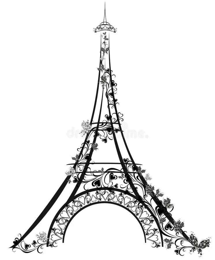 Eiffelturm In Paris Frankreich Vektor Abbildung