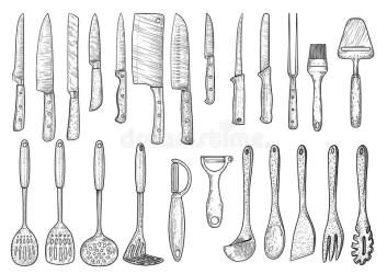 Ejemplo Determinado Del Utensilio De La Cocina Dibujo