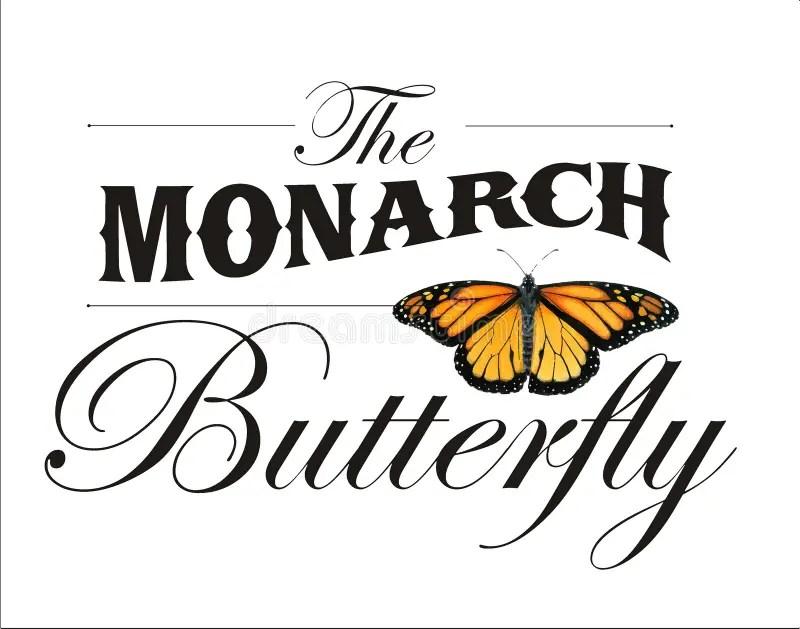 El Cartel De La Mariposa De Monarca Stock de ilustración