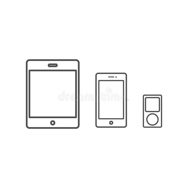 Vector del iPad 2 de Apple ilustración del vector
