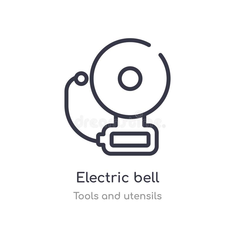 Electric Bell Diagram Showing Electromagnet Use Stock