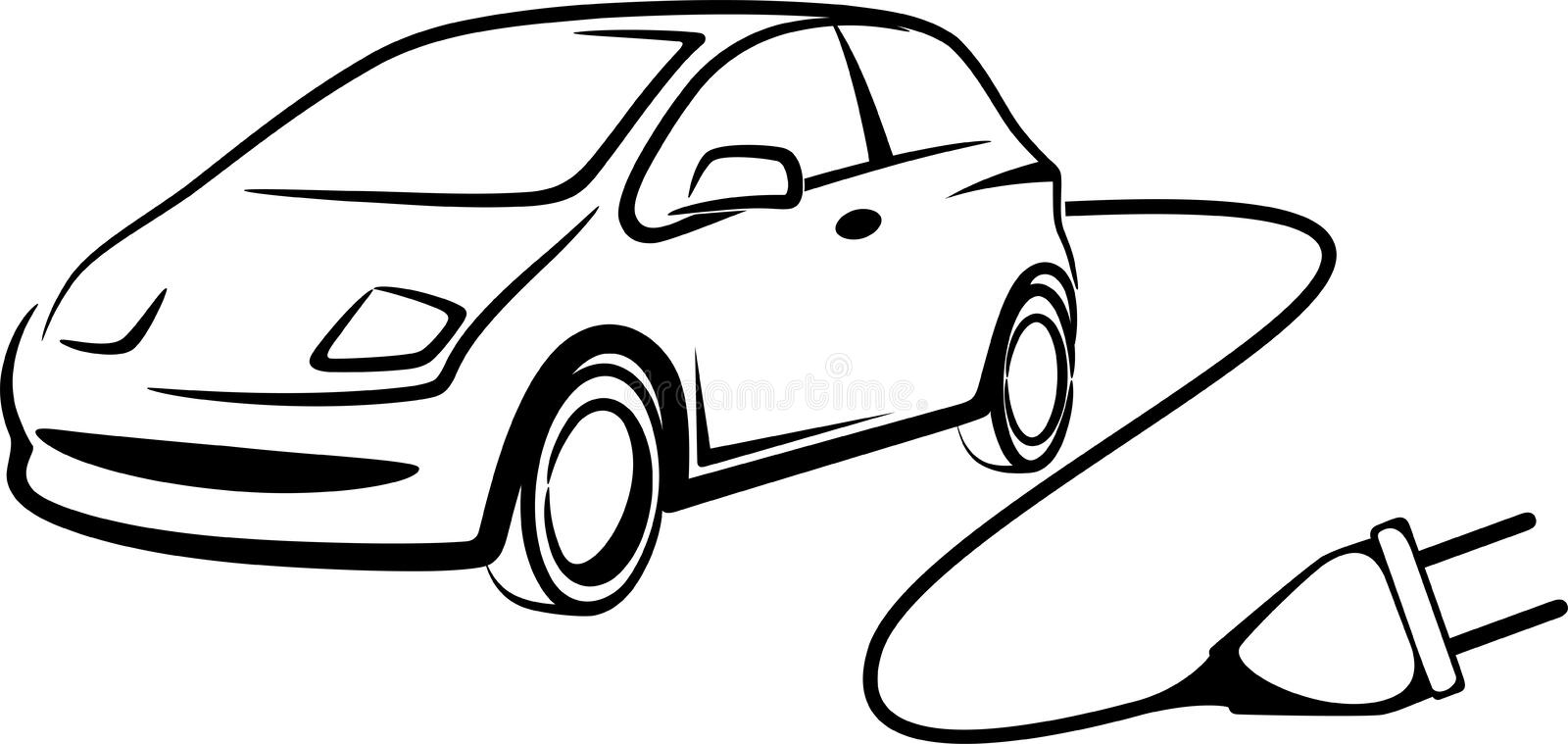 Electric car stock vector. Illustration of symbol