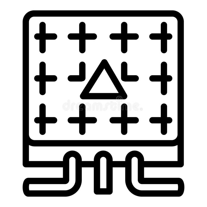 Electric Switchboard Icon, Outline Style Stock Vector