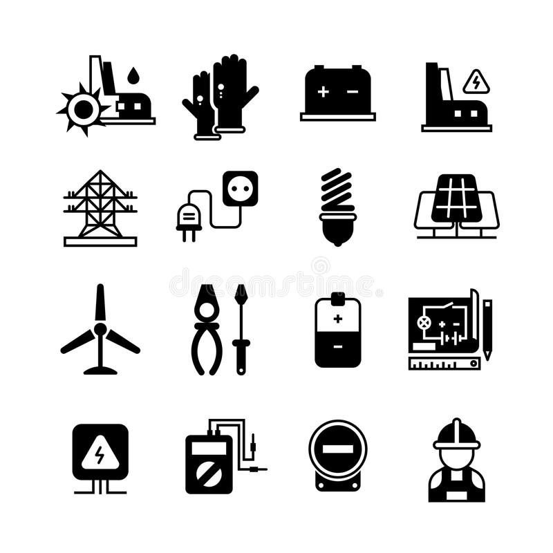 Electric Power Plant, Electricity, Electronic Tools Vector