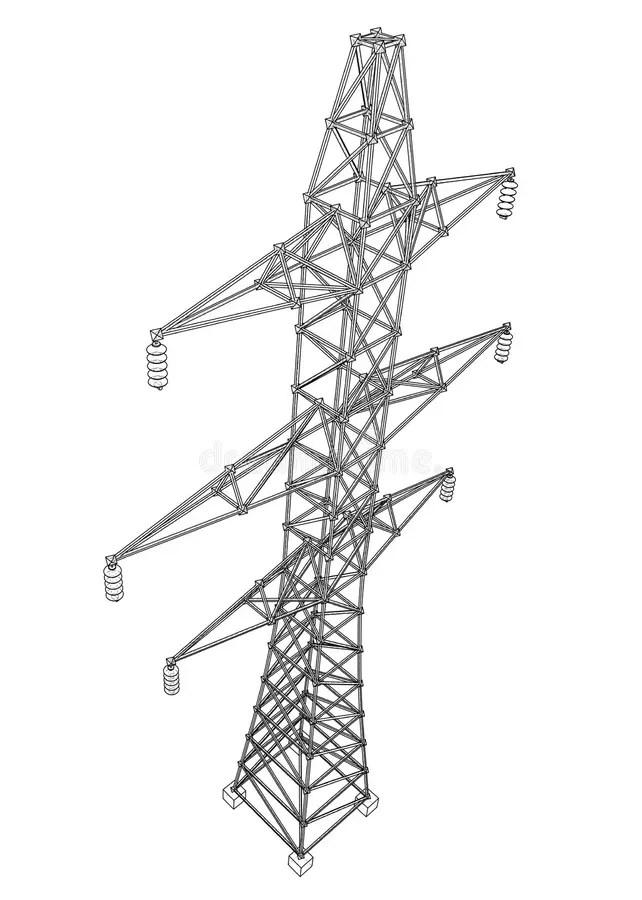 Pylon Stock Illustrations