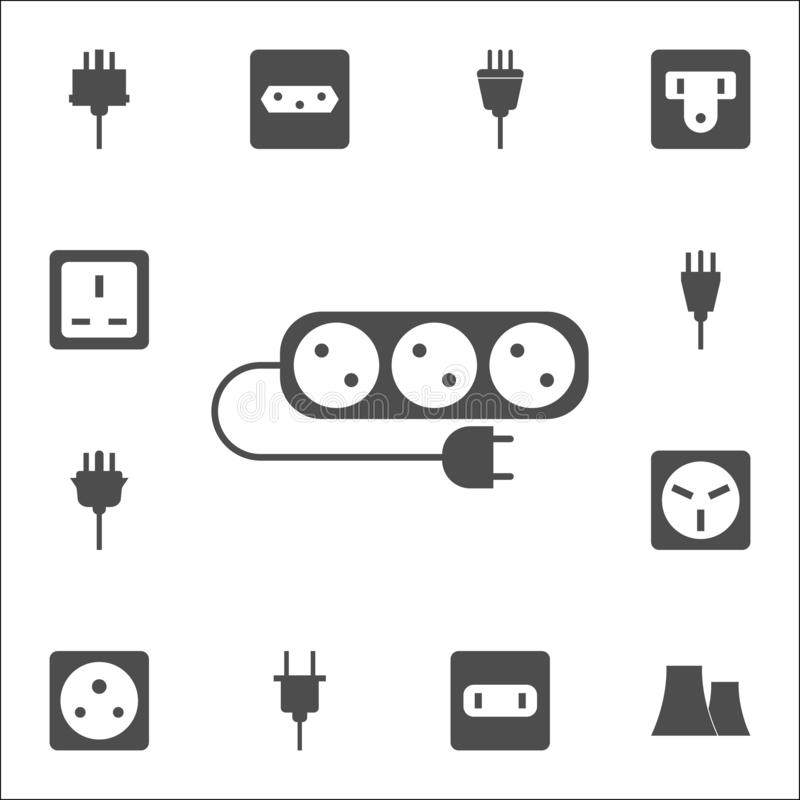 Cord For Mobile Phone Icons. Elements Of Human Web Colored
