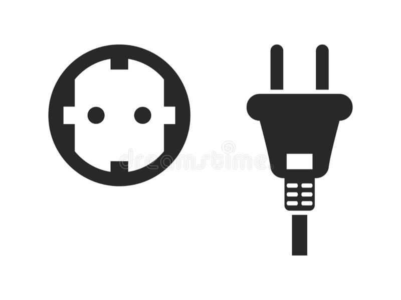 Electrical Symbol Icon Set stock vector. Illustration of