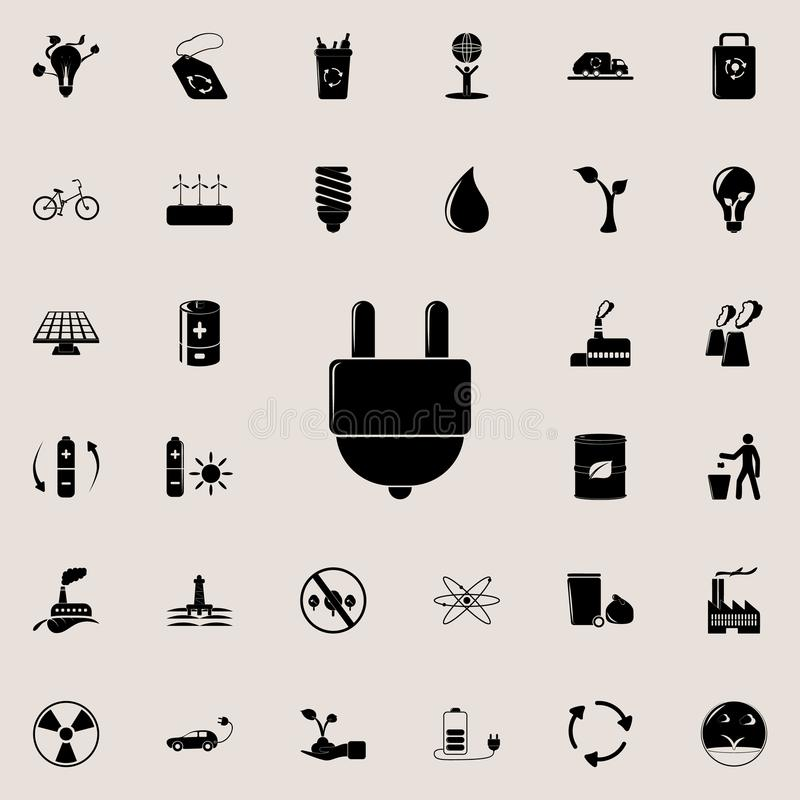 Electrical Symbol Icon Set Stock Illustrations