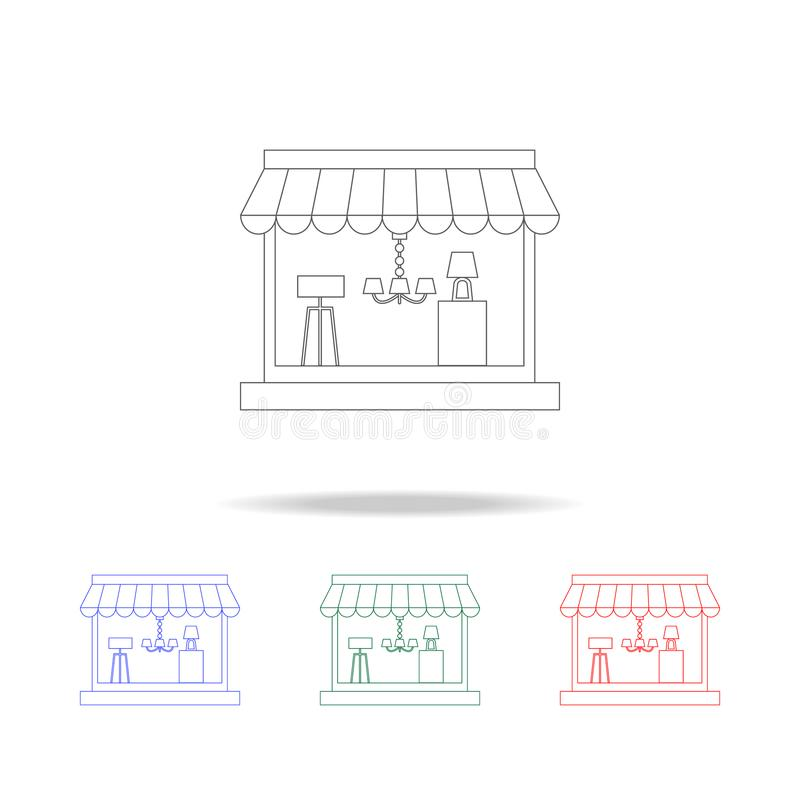 Shop For Home Appliances Icon. Detailed Set Of Shops And