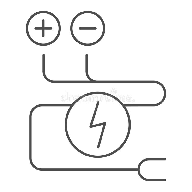 Electrical Wiring Solid Icon. Car Adapter Vector