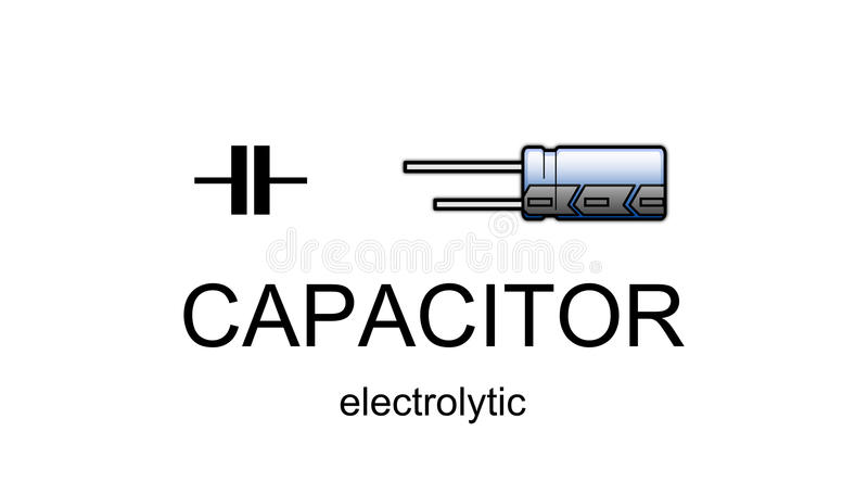 Electrolytic Capacitor Symbol