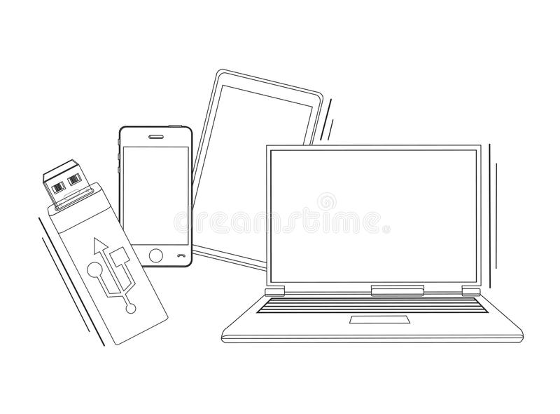 Electronic Communication Technology Drawing Illustration
