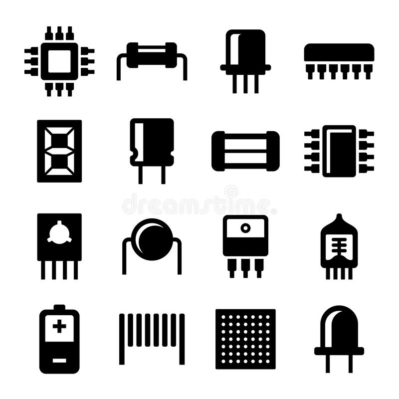 electronic circuit board with components