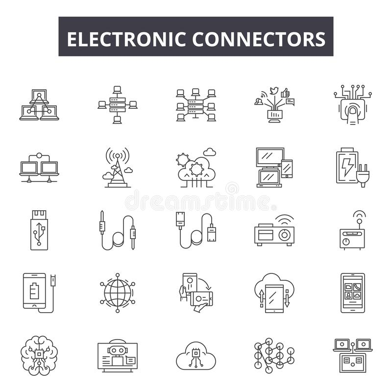 Vector Video And Audio Connectors Stock Vector