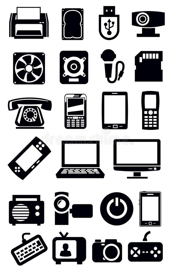 Electronic devices icon stock vector. Image of desktop