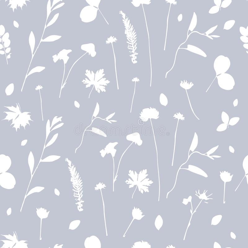 Fall Maple Leaf Tiled Wallpaper Leaves Seamless Pattern On Gray Lilac Background Stock