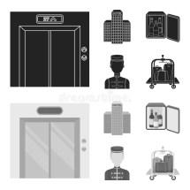 Elevator Car Mini Bar Staff Building.hotel Set