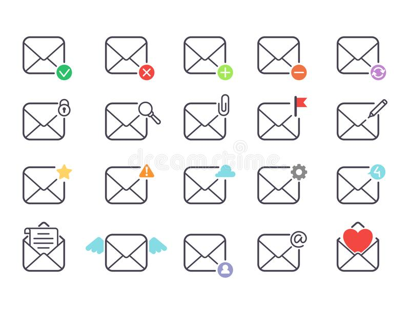 Email Envelope Cover Icons Communication Correspondence