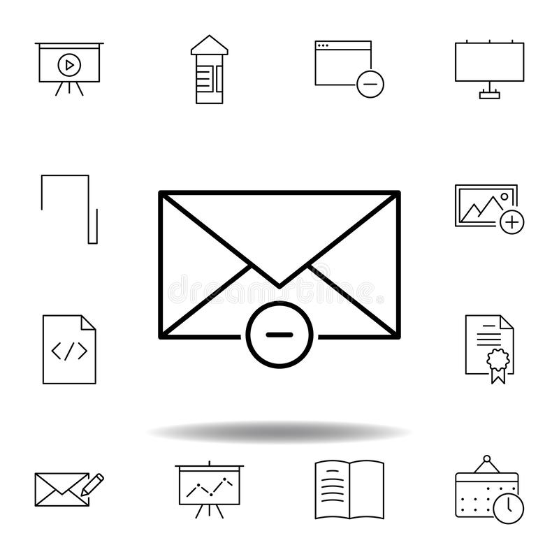 Envelope Mail Open With Arrow Isolated Icon Stock Vector