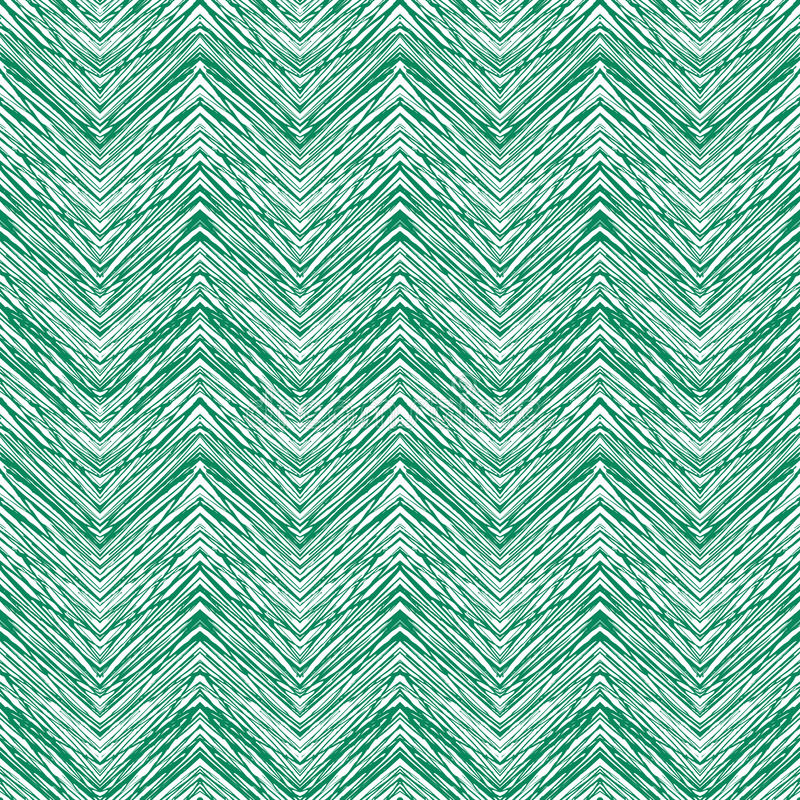 Fall Bohemian Fashion Wallpaper Emerald Green Hand Drawn Vector Zigzag Pattern Stock